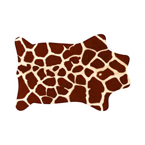 NINAINAI Pareti Carta da Parati Divano Letto 3D Kreative Muster Teppichaufkleber Teppichaufkleber Wohnzimmer Schlafzimmer Fliesenaufkleber (Color : Brown 1, Size : 80x120cm)