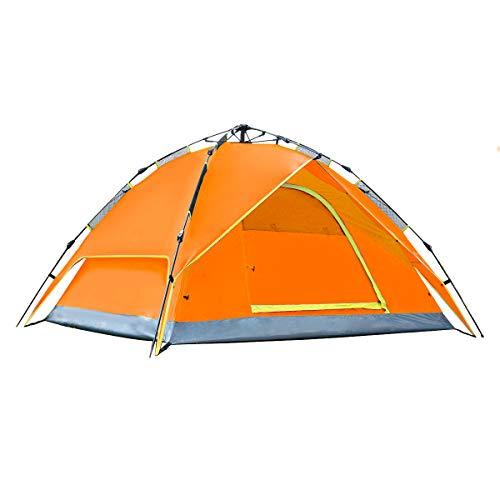 Gllbaec Zelt Neues Upgrade Automatische Zelt Im Freien Kostenlos Gebäude Doppeldecker 3-4-Personen-Zelt Anti-Regen Camping Verdickung Camping Zelt
