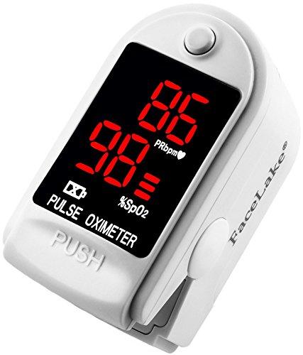FaceLake FL400 Pulse Oximeter with Carrying Case, Batteries,...
