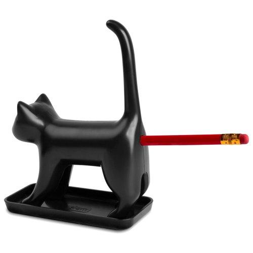 Splash Brands 8034-1 Bleistiftanspitzer Miauende Katze mit Sounds, schwarz