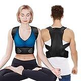 Corrector de Postura para Mujeres y Hombres, Corrector de Postura Ajustable - Enderezador de Espalda para Soportar la Clavícula y Aliviar el Dolor en el Cuello, la Parte Superior de