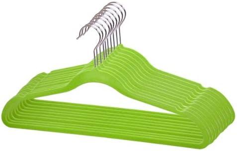 Sunbeam Velvet Slim Flocked Hangers 120 Pack Green product image