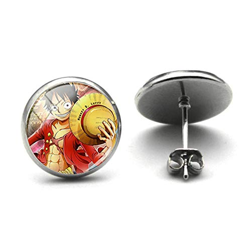 Anime Naruto Uchiha Sasuke Stud Pendientes de dibujos animados foto cristal cabujón pendientes Cosplay joyería regalos sangre Anime niños regalo