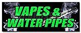 36' VAPES & Water Pipes Decal Sticker Bong Head Shop e cigs Weed Smoke Vapor
