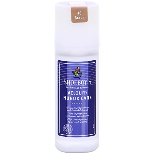 Shoeboys Velours Nubuk Care - Rauleder Pflege (75 ml, Braun)