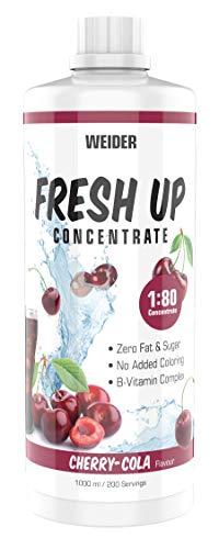 WEIDER Fresh Up Cherry-Cola Getränkekonzentrat , zuckerfrei & ohne Farbstoffe, mit Vitaminen, 1 Liter