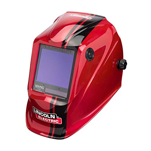 Lincoln Electric K4034-4 VIKING 3350 Auto Darkening Welding Helmet with 4C Lens Technology, Code Red