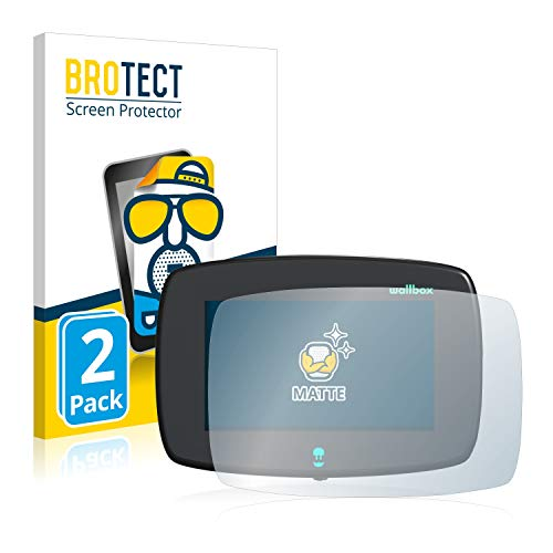 BROTECT Protector Pantalla Anti-Reflejos Compatible con Wallbox Commander (2 Unidades) Pelicula Mate Anti-Huellas