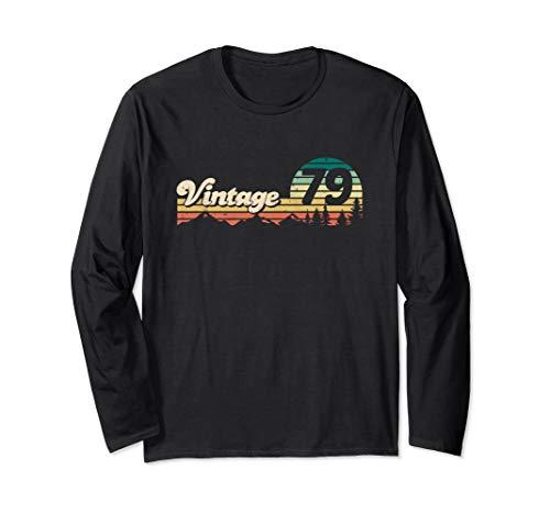 Geschenk zum 40. Geburtstag - 1979 Vintage Jahrgang '79 Langarmshirt