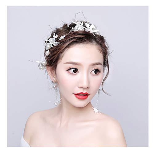 QFF Q Corona de Flores Bohemio Corolla Diadema Coreano Tocado de Cabeza Blanca Flor Sen Seaside Accesorios para Fotos Vestido de Novia Accesorios F (Edition : A)