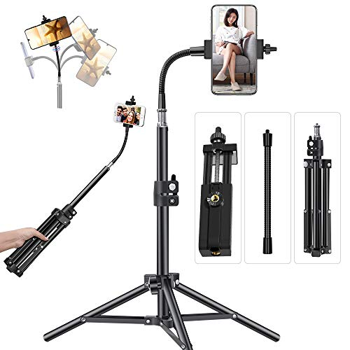 Pixel 20inch Phone Tripod for iPhone Cell Phone Stand Video Recording,...