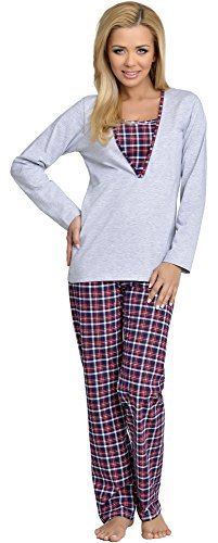 Be Mammy Mujer Lactancia Pijamas Dos Piezas Grete (Menta, M)