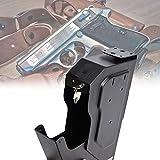 BIWASimple Quick Access Safe Gun Box,Gun Safe Key Lock Box,Concealed Handgun Box for Travel Car or Home Use Lock Box Storage,Cash Jewelry Pistol Safe Cabinets
