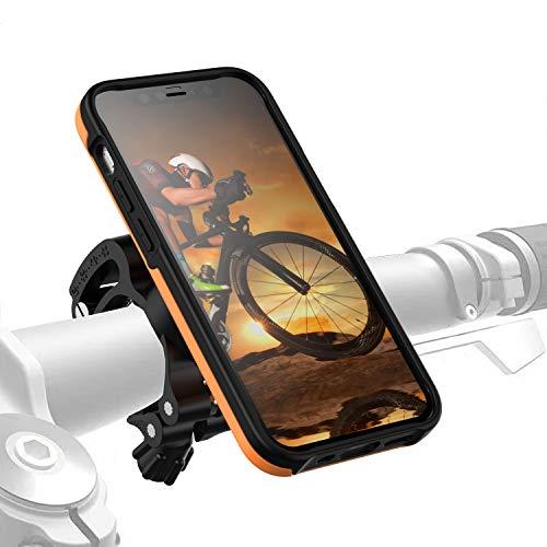 Morpheus M4s iPhone 12 Mini Bike-Kit Fahrradhalterung - Handyhalterung Fahrrad iPhone 12 Mini - Halterung & iPhone 12 Mini Hülle magnetisch fürs Rad, DropTest, mit Quick Lock, Bike Kit orange