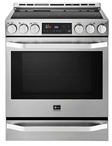 "LG LSSE3026STStudio 30"" Stainless Steel Smoothtop Electric Slide-In Range"