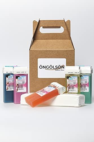 Caja Regalo Kit Depilación Mujer Cera Tibia Roll-on Depilación-Pack Recarga selección surtido...