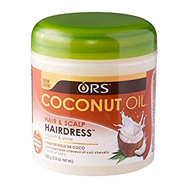 ORS Coconut Oil Hair and Scalp Hairdress 5.5 oz (Pack of 3)