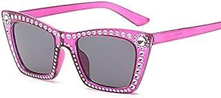 TYJYY Sunglasses Rectangle Lunettes De Soleil Femmes Mode Imitation Diamant Lunettes De Soleil Luxe Marque Designer Rétro ...