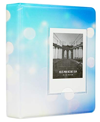 Álbum de bolsillo Yosuny 64 para Fujifilm Instax Mini 7s 8 8+ 9 25 50 70 90, Polaroid PIC-Snap 300, HP Gear, mini película Kodak de 3 pulgadas