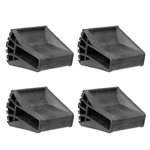 VILLCASE - Cubrepatas de escalera con forma de abanico, 4 piezas, cubiertas para patas de escalera para construcción, uso doméstico