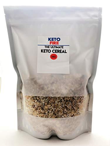 Cereal Ultimate Keto Cereal (bajo en hidratos) sin azúcar añadido - Naturales y sin procesados gran sabor y el equilibrio perfecto para la dieta cetogénica o keto - Sin gluten ni cereales, de KetoFire