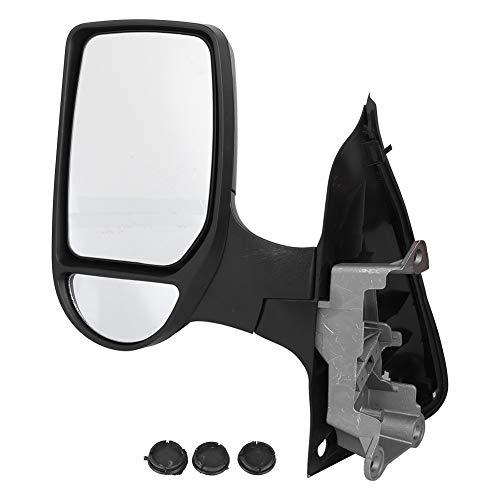 Deror Espejo retrovisor Lateral Izquierdo para Coche, Ajuste Manual, Piezas Exteriores de Coche, aptas para Ford Transit Van Mk7 06-14