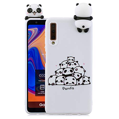 Suhct 3D Cartoon Panda Silicona Carcasa Compatible con Samsung Galaxy A5 2016 / A510, Divertido Animales Lindo Diseño Case Bumper Case Bumper Suave Goma Parte Trasera Anti-Golpes Antideslizante