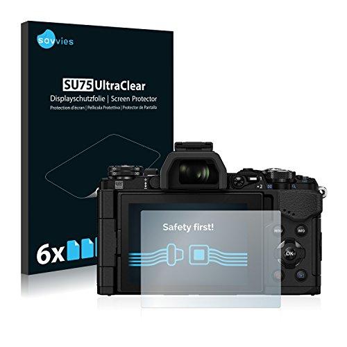 savvies Protector Pantalla Compatible con Olympus OM-D E-M5 Mark II (6 Unidades) Pelicula Ultra Transparente