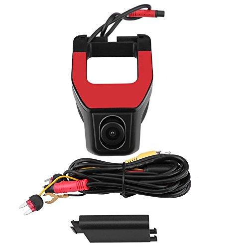 Keenso WiFi Full HD 1080P 170 ° Weitwinkel-Auto-DVR-Frontkamera, Fahrrekorder, Parküberwachung, Dashcam mit G-Sensor/Loop-Aufnahme, 32 G