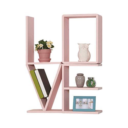 Estante de pared de madera maciza para sala de estar, dormitorio, caja de almacenamiento (color: B)