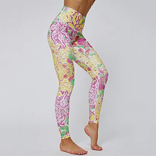 HPPLGothic patroon afdrukken vrouwen yoga broek hoge taille fitness legging Running Gym broek vrouwen kleurrijke sportieve training legging, NS-6130, M