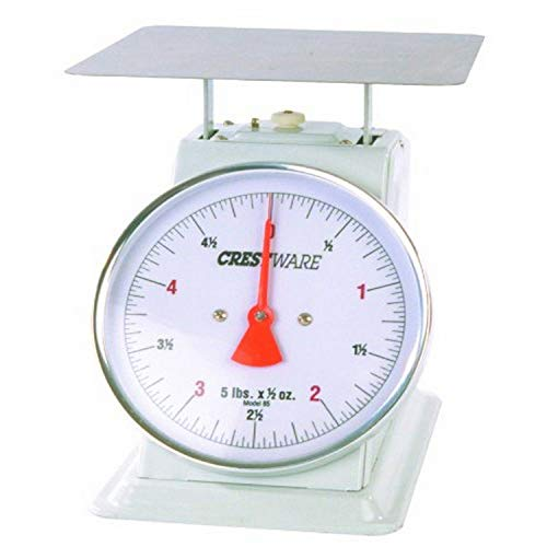 Crestware Heavy Duty Scale 6-Inch Dial Face, 2-Pound by 1/4-Ounce Scale with Rotating Dial (0.25 Ounce Mechanical Scale)