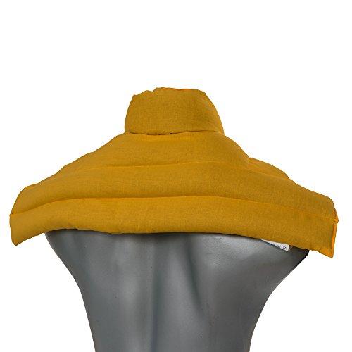 Wärme Nackenkissen: Kirschkernkissen Schulter & Nackenkissen mit Kragen. Nackenwärmer Körnerkissen Wärmekissen (mango, Kirschkerne)