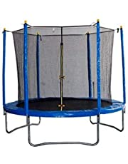 Children trampoline with protective barrier