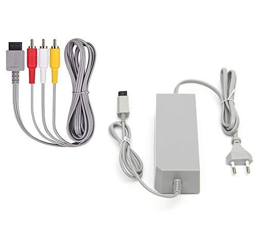 DARLINGTON & Sohns Kabel Set für Nintendo Wii Ladekabel Ladegerät Netzteil + TV Kabel Scart Kabel Stromkabel AC Adapter