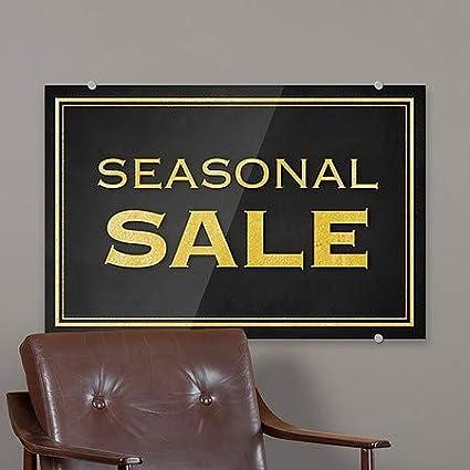 CGSignLab Classic Gold Premium Acrylic Sign Seasonal Sale 27x18