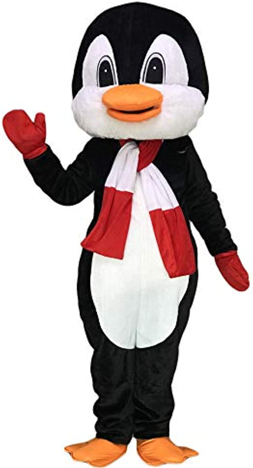 Rushopn Penguin with Red and White Scarf Mascot Costumes