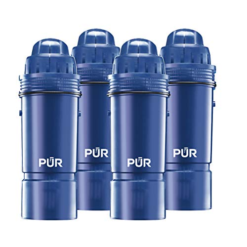 PUR Basic Water Pitcher Replacement Filter, 2-Stage, 4-Pack, Filter Replacements for PUR Water Filter Pitchers, Reduced Chlorine Taste and Odor, Filters Provide 0 Gallons/2 Months of Filtered Water