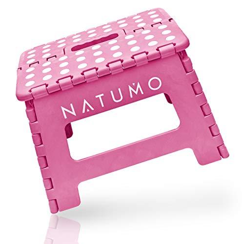 NATUMO® Premium Tritthocker Klapphocker 22cm hoch - Faltbar Küchenhocker Klapptritt Bad-Hocker Klappbar Kinderfußbank Kindertritt Aufstiegshilfe Waschbecken Für Kinder Erwachsene