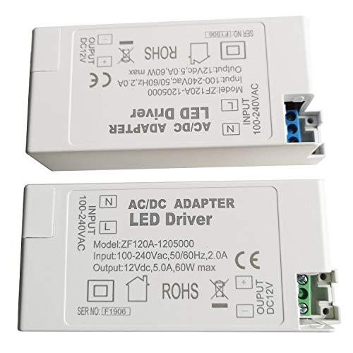 TONGLIDA ZF120A-1202500 ZF120A-1205000 12VDC 30W 60W AC/DC-Adapter LED-Treiber für LED-Deckenleuchten Strahler Buried Fluorescent Lamps (60)