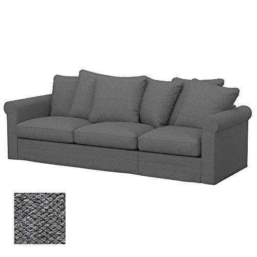 Soferia Funda de Repuesto para IKEA GRONLID sofá Cama de 3 plazas, Tela Nordic Grey, Gris