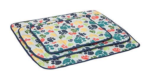 Ilkadim Hundebett Katzenbett 60x90cm bis 100x120cm, Schlafplatz für Katzen und Hunde, Verschiedene Muster, bis 95 Grad waschbar (Pfote, 70 x 100 cm)