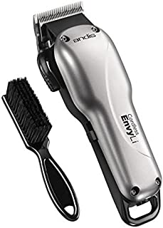Andis Professional Cordless Envy Lithium-Ion High-speed Adjustable Blade Clipper with a BeauWis Blade Brush