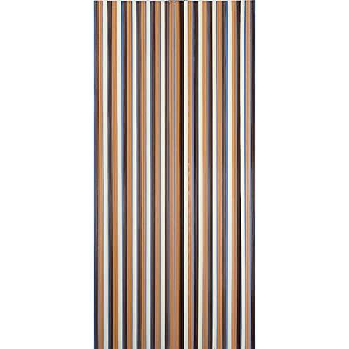 SIDCO Streifenvorhang Türvorhang Fliegenvorhang Fadenvorhang Kunststoff braun 90x200