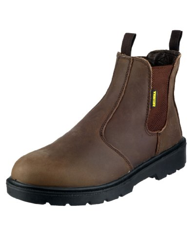 Amblers Steel Mens Fs128 Safety Dealers Work Boots Brown Size 9