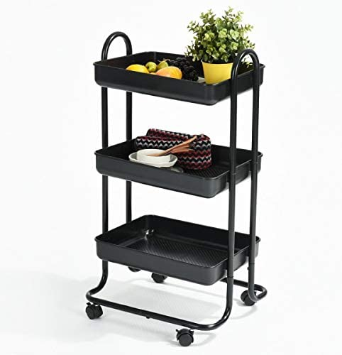 HOMY CASA Kitchen Limited price Dining Rolling Trolley Online limited product Shelves Storage 3 Cart