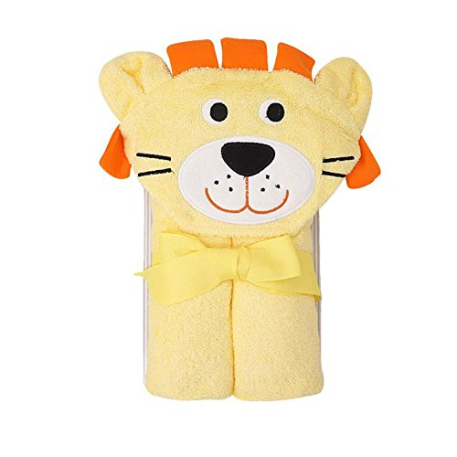 CuteOn Bambino 100% Cotone Bagno Asciugamano Morbido Cappuccio Asciugamano per Neonato Bambino piccolo e Bambini - Orange Leone 28.74' x 35.43'