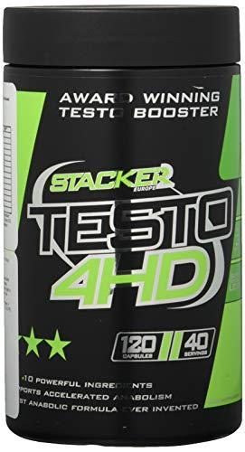 Stacker2 Testo-4HD Testosteronproduktion Testosteron Fitness Diät Muskeln Bodybuilding 120 Kapseln