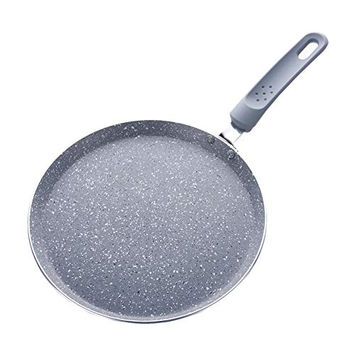Crêpes Pfanne Pfannkuchenpfanne aus Aluminium Antihaft Pizzaplatte aus Stein, für Kuchen, Steak, Braten von Eiern perfekt zum frühstück,20cm