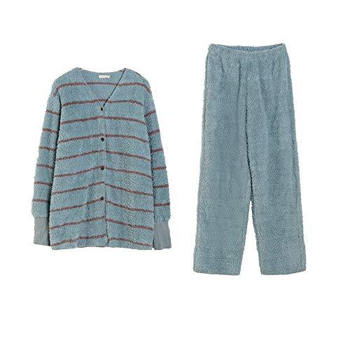 Wuxingqing Pijama para Mujer Pijamas Set Manga Larga de la Ropa de Noche de Las Mujeres Ropa de Dormir Suave con Botones Salón Establece con Botones de Manga Larga Pijamas Cómodo y Suave